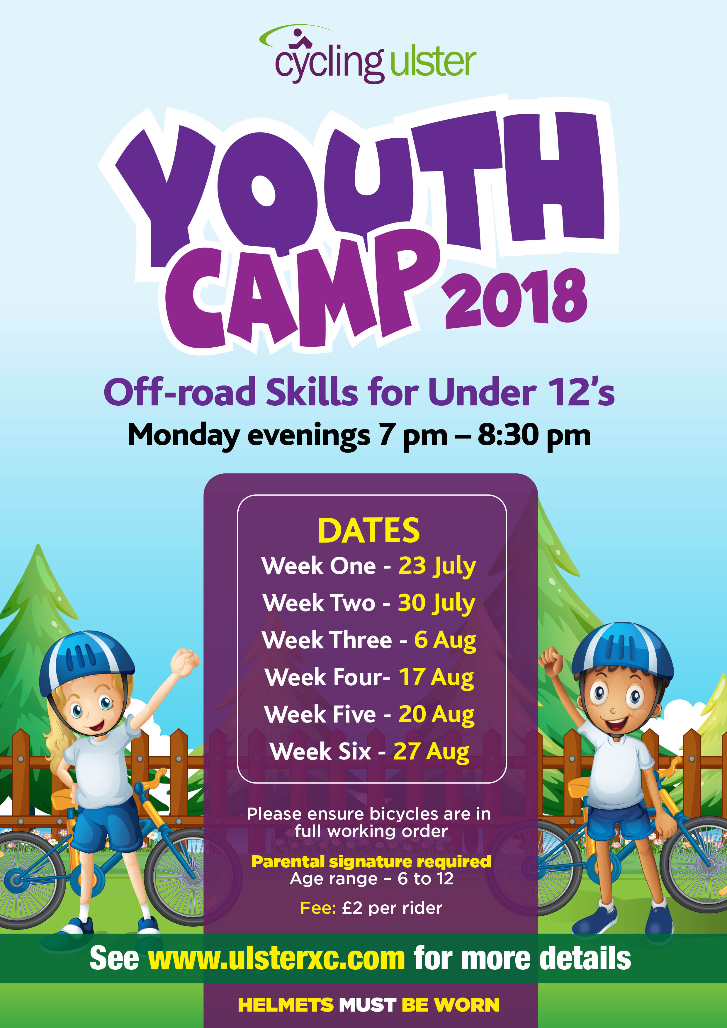 new concept 368b0 997c5 Youth Camp 2018 – Under 12s off-road training